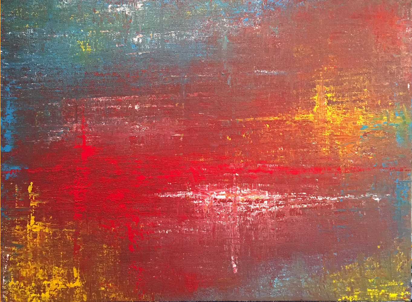 Acrylic painting All Things Reconciled - Colossians 1:20 by Richard Rice
