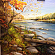 Oil painting Housatonic River by Elizabeth4361 Medeiros