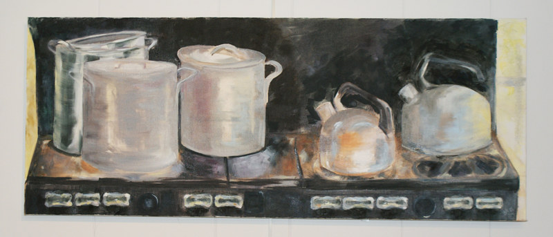 Oil painting Everything but the Kitchen Sink by Barbara Naeser