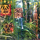 Acrylic painting Tiki Party by linda richardi