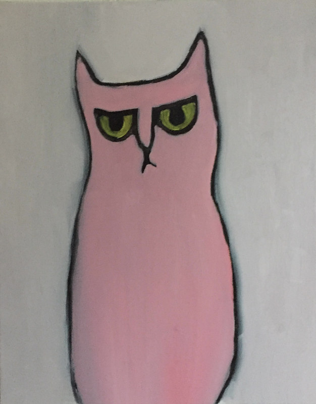 Oil painting pussy by Michele Ridgeway