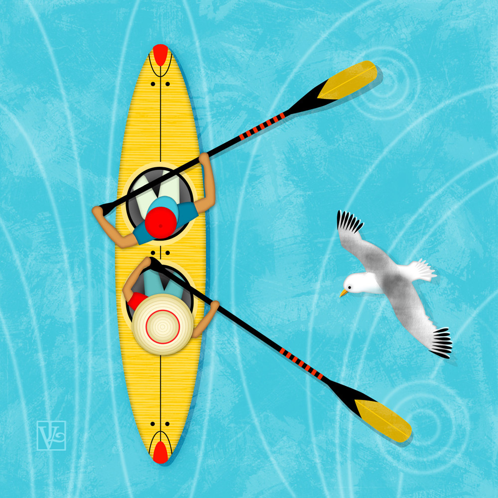 K is for Kayak and Kittiwake by Valerie Lesiak