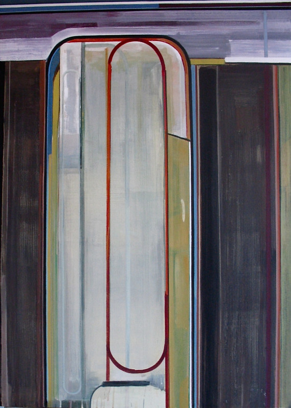 "Acrylic painting ""Opening with Figure"" by Brad Nuorala"