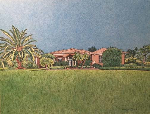 Drawing House Portrait-Florida by Susan Lynch