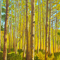 Oil painting Forest for the Trees by Crystal Dipietro