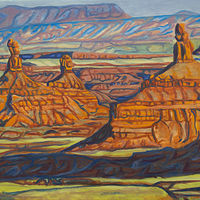 Oil painting Evening in Valley of the Gods by Crystal Dipietro