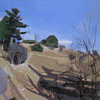 Acrylic painting March Sun on Lost Dog Hill by Harry Stooshinoff