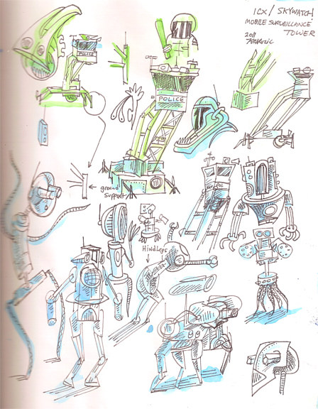 Skywatch robot studies by Kenneth M Ruzic
