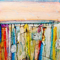 Mixed-media artwork Rock County Reflections  by Steve Latimer