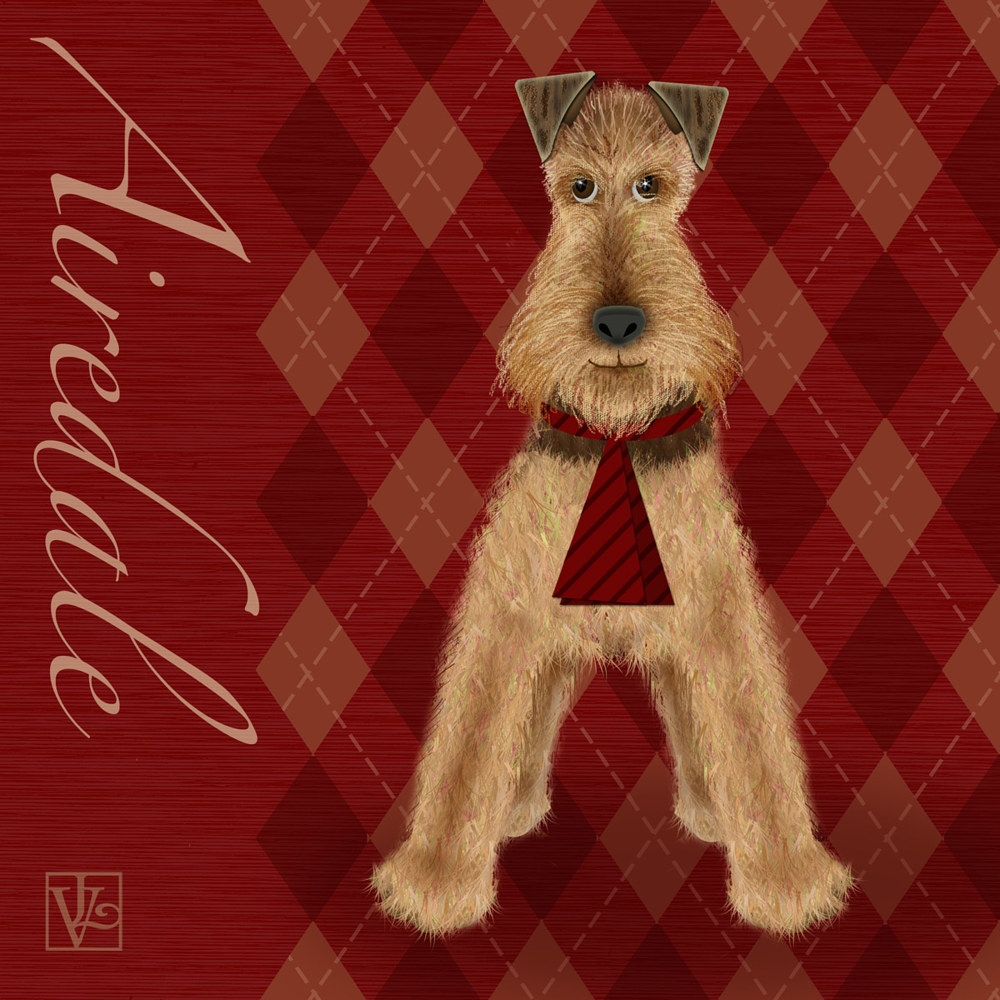 A is for Airedale  by Valerie Lesiak