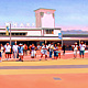 Oil painting Manly Wharf Crossing  by Jodi Jansons