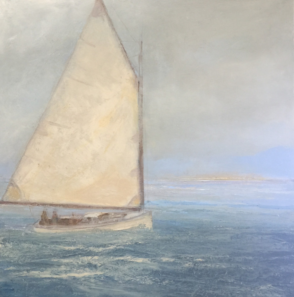 Oil painting Sailing in Shoal-water  by Nella Lush