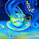 Acrylic painting A Cup of Love by Jeanne Lloyd