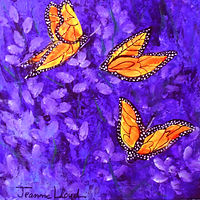 Lavendar with butterfly by Jeanne Lloyd