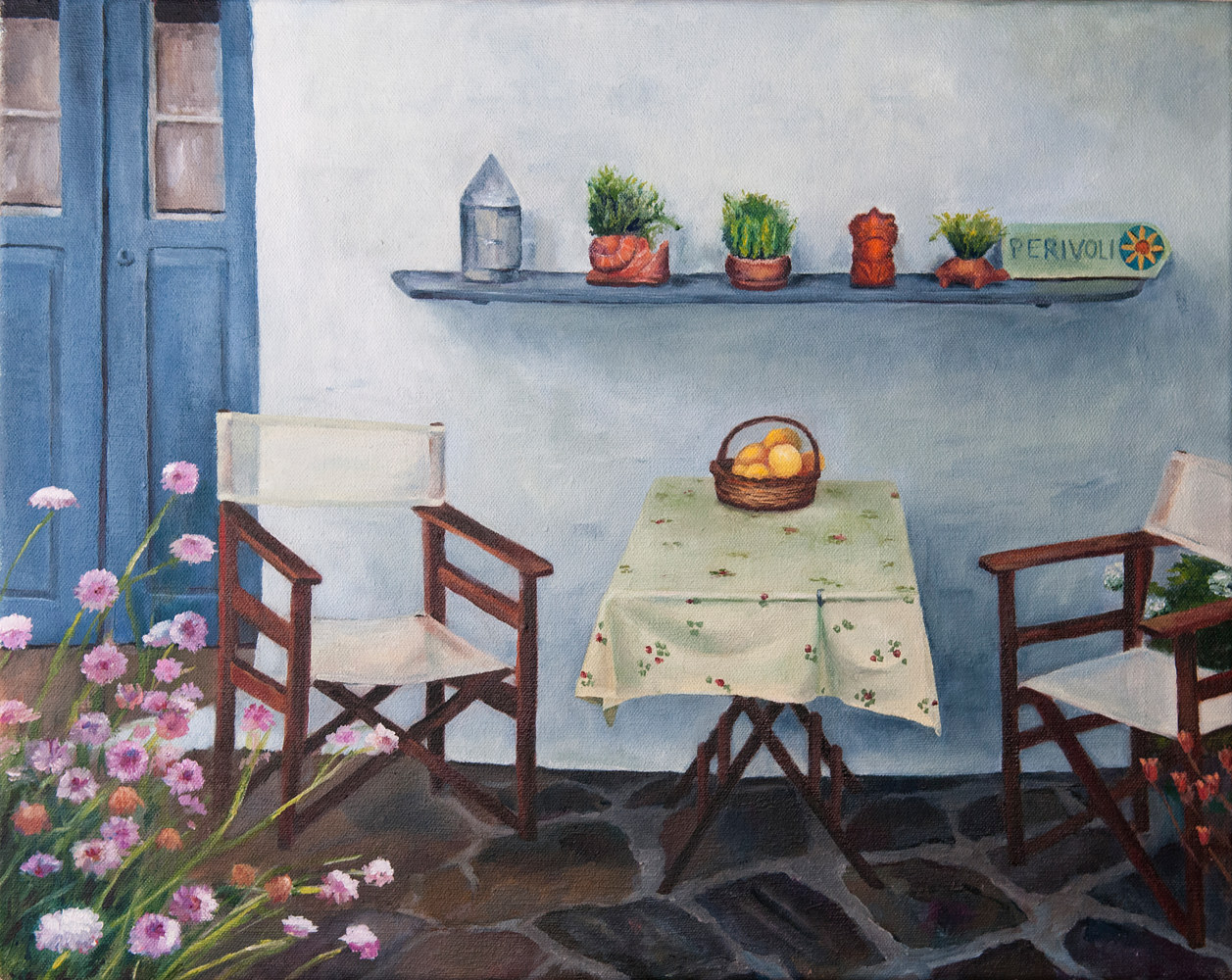 Oil painting Lemons by Kathleen Gross
