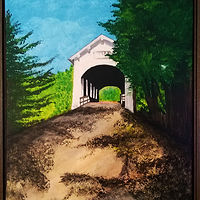 Acrylic painting Oregon Ritner Creek Covered Bridge-16x20 by Frans Geerlings