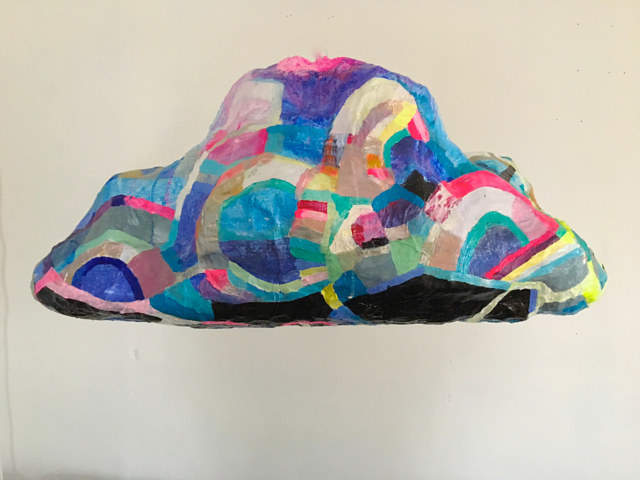 Acrylic painting Crystal Rainbow Cloud  by Julie Gladstone