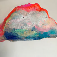 Acrylic painting Sunset Cloud by Julie Gladstone