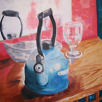 Oil painting Tea for You by Barbara Naeser