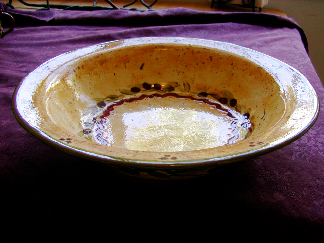 Painting Italianate Eclectic Glazeworks: Pasta Bowl by Victoria Avila