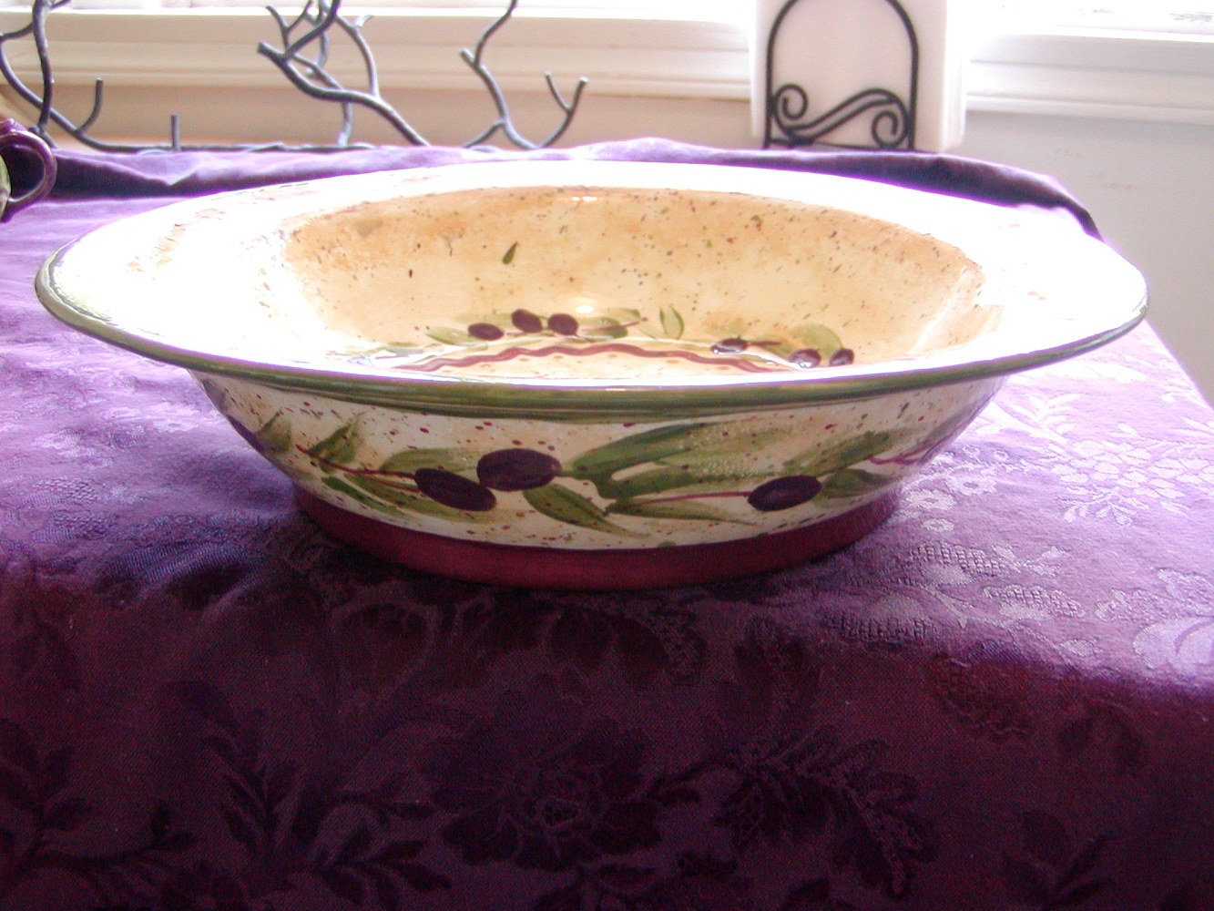 Painting Italianate Eclectic Glazeworks: Pasta Bowl by Linnie (Victoria) Aikens Lindsay