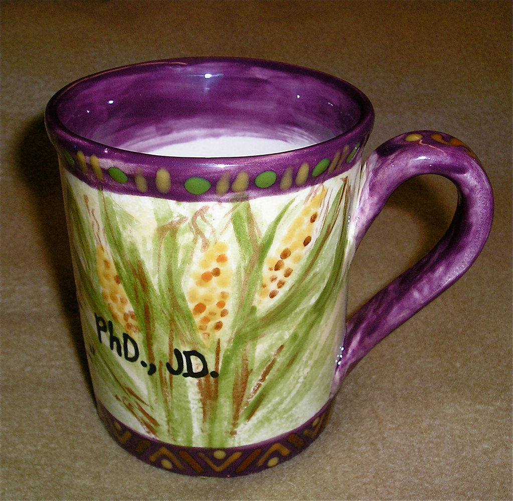 Italianate Eclectic Glazeworks: Kelvin Grant Mug (back) by Linnie (Victoria) Aikens Lindsay