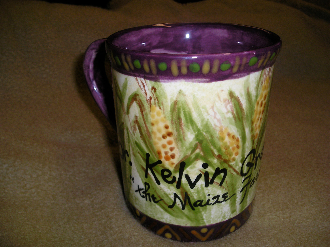 Italianate Eclectic Glazeworks: Kelvin Grant Mug (front) by Victoria Avila
