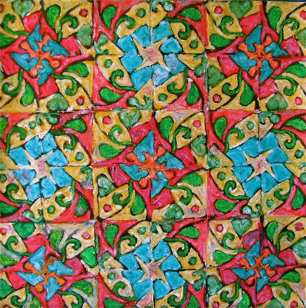 "Oil painting ""Morrocan Motif"" by Linnie (Victoria) Aikens Lindsay"