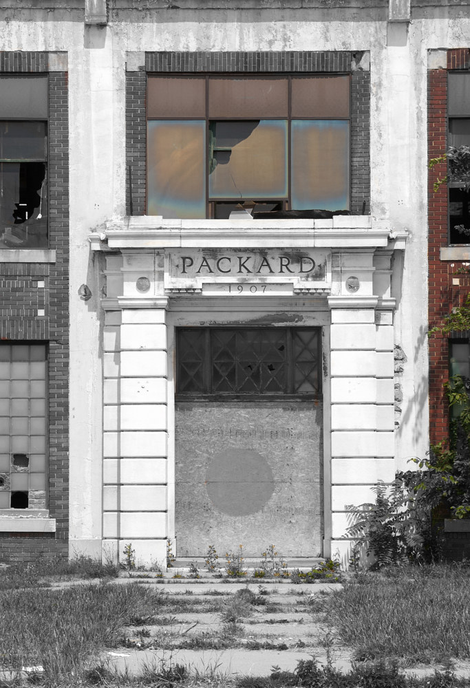 Packard Plant Door by Kathleen Gross