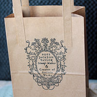 Logo Stamp - Stamping Paper Bags by ROSE WILLIAMS