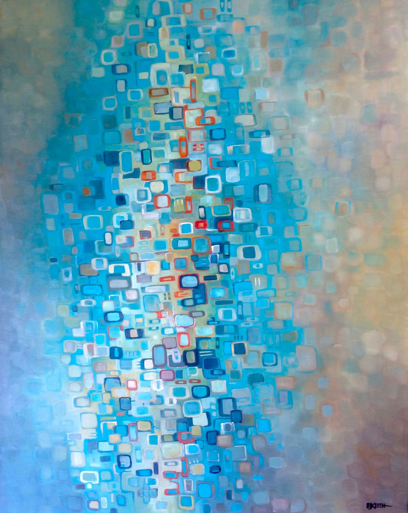 Oil painting Pixels 3 by BJ Keith