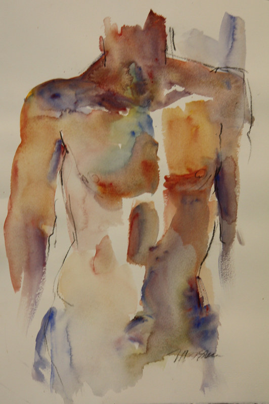 Watercolor torso by Madeline Shea