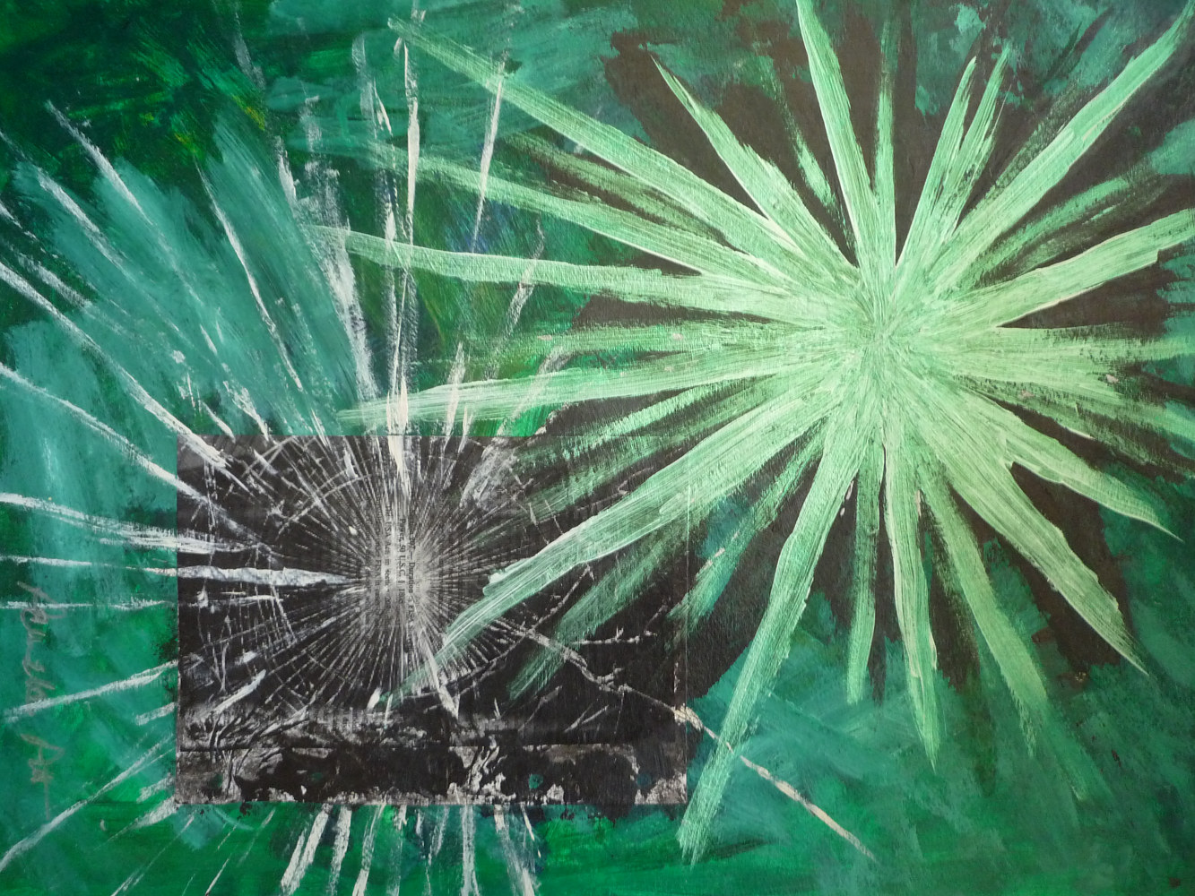 Mixed-media artwork Cracked by Pamela Pitt
