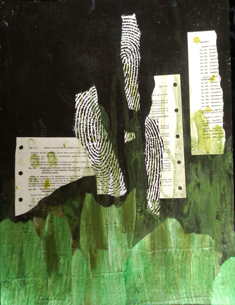 Mixed-media artwork Fingerprints by Pamela Pitt