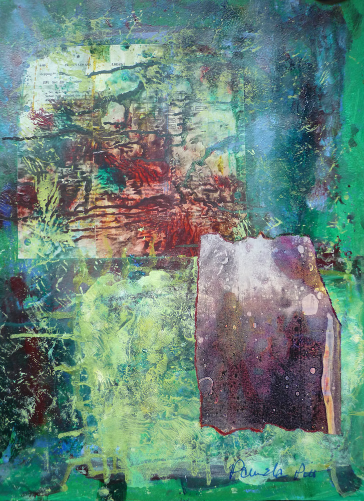 Mixed-media artwork Privacy Underwater by Pamela Pitt