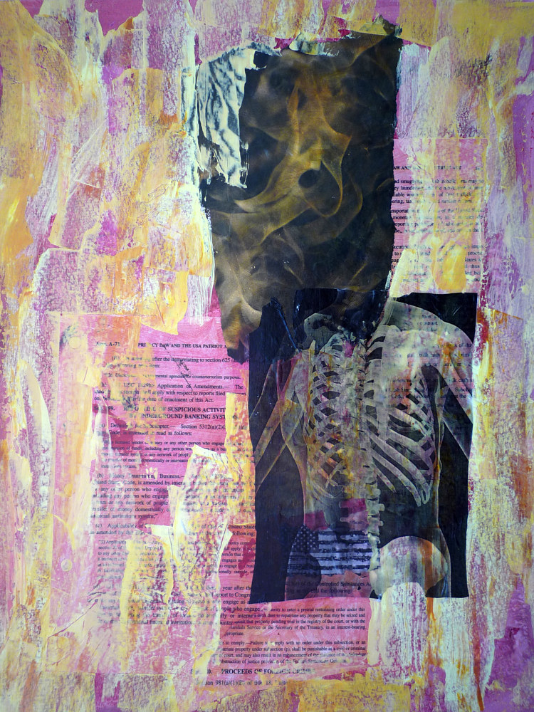 Mixed-media artwork Underlying Creepiness by Pamela Pitt