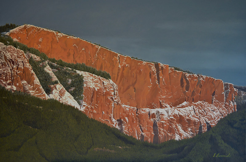 Oil painting The Enderby Cliffs $2200.00 by Vicki Beamish