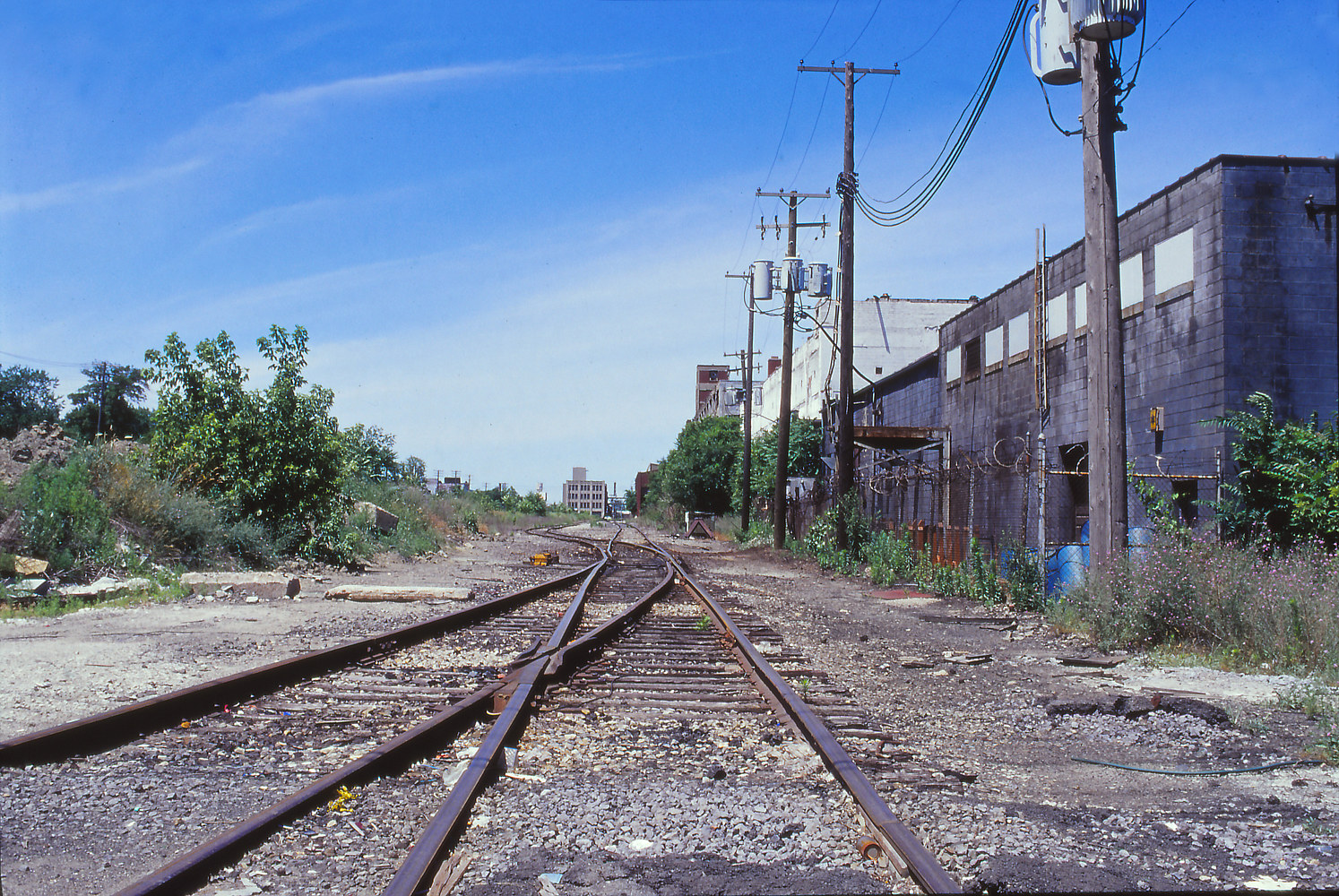 Railroad Behind Packard Plant by Kathleen Gross