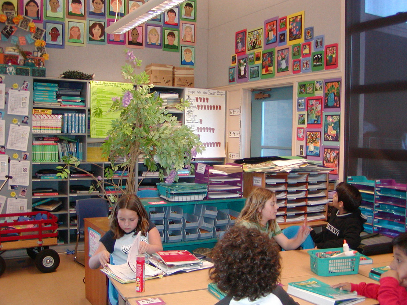 Regular 5th Grade classroom with Art Integrated (1997) by Victoria Avila