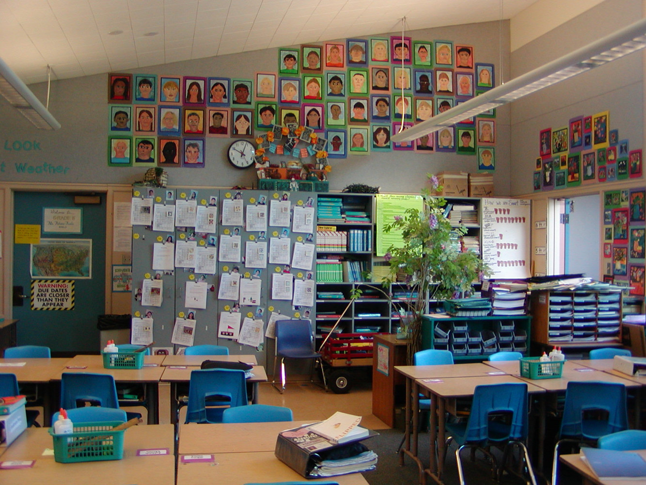 Regular 5th Grade classroom with Art Integrated (1997) by Linnie (Victoria) Aikens Lindsay