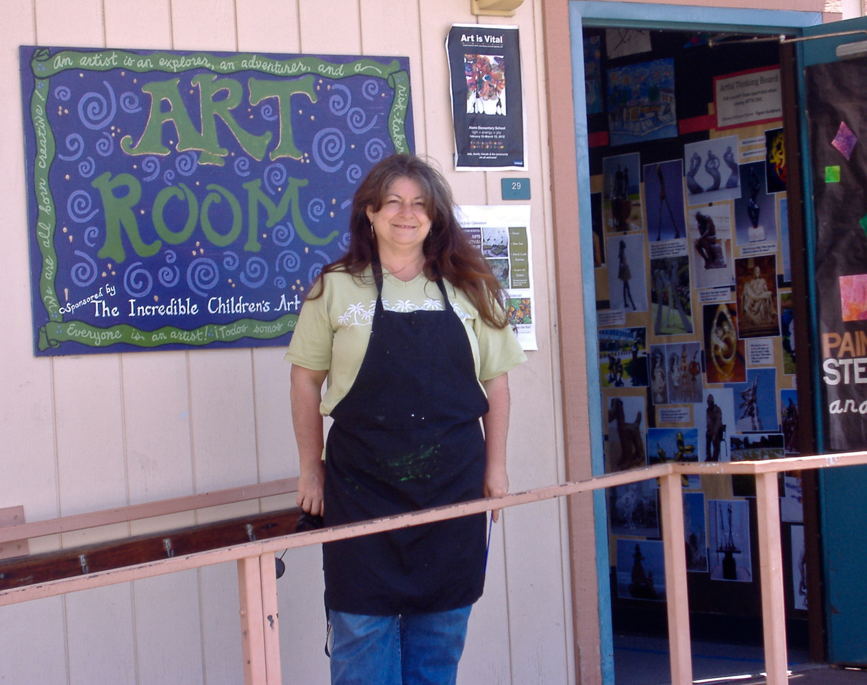Linnie at door of Art Classroom (2011) by Victoria Avila