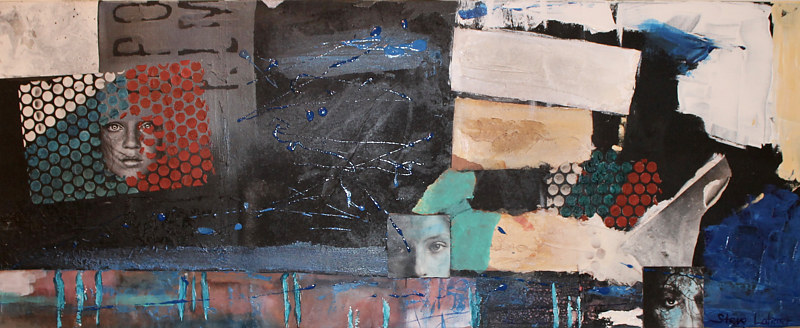 Mixed-media artwork Looking Back by Steve Latimer