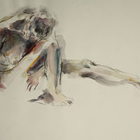 Watercolor nude extended by Madeline Shea