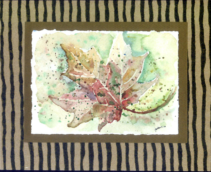 "Watercolor ""California Sycamore Leaf"" by Linnie (Victoria) Aikens Lindsay"
