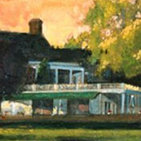 Oil painting Oakland Hills Country Club by Kim Fujiwara