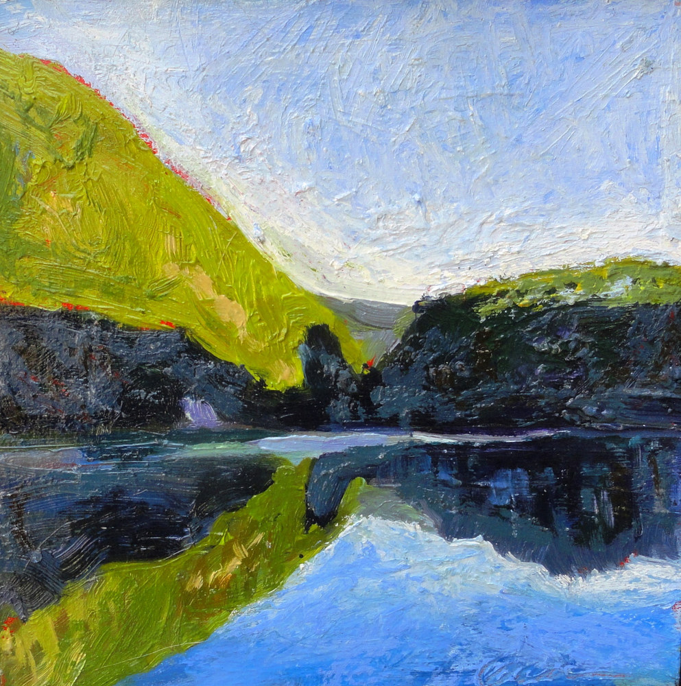 chapel pond 6x6 by Michael  Gaudreau