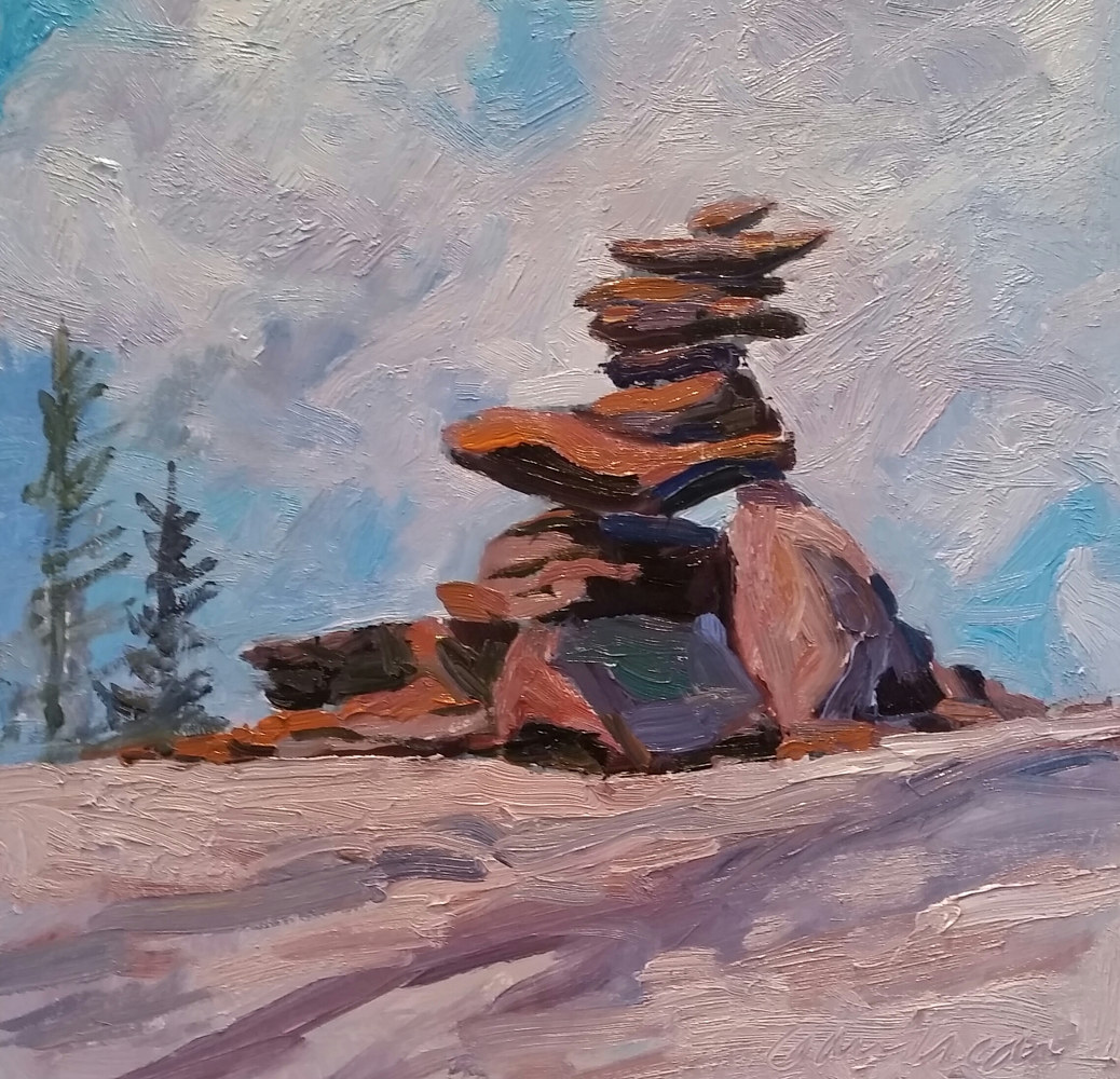 cairn on Jay mountain  by Michael  Gaudreau