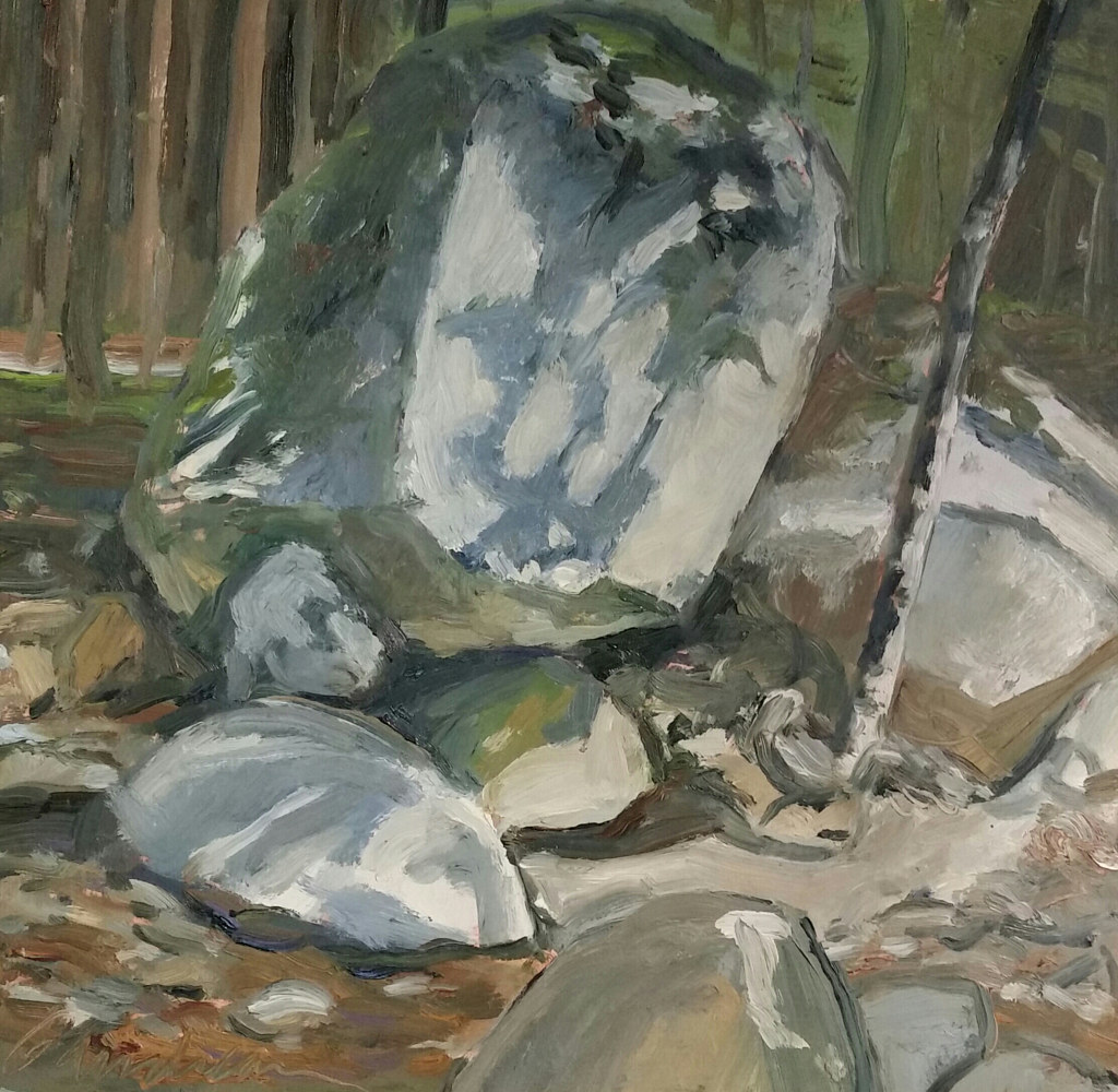 Painting Rock series1  12x12  by Michael  Gaudreau