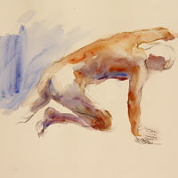 Watercolor grasping by Madeline Shea
