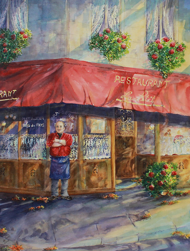 Watercolor Cuisine Commandant   by Wanda Hawse